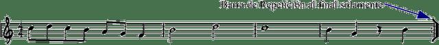 Barra Repeticion