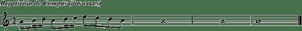 ejemplo repeticion de compas