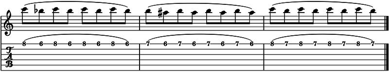 ligados en la guitarra ejercicio avanzado