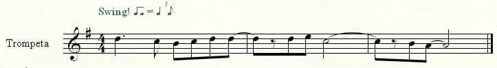 Melodía trompeta en Bb