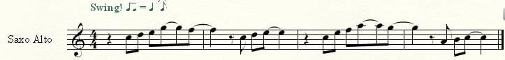 Melodía saxofón alto Eb