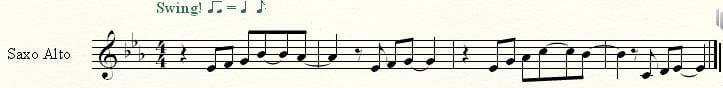 Saxofón alto transportado