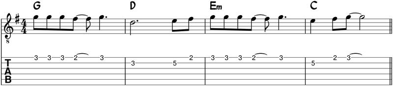 melodía base para el solo
