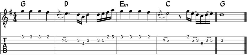 Notas de melodia con ritmo distinto