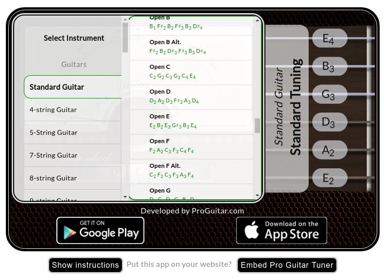 Pro Guitar Tuner