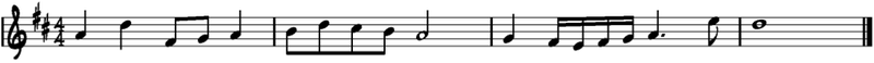 Melodía en Re Mayor