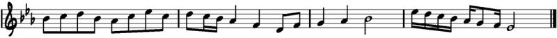 Melodía en Mi bemol mayor