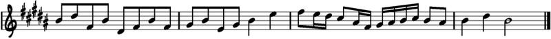 Melodía en Si mayor
