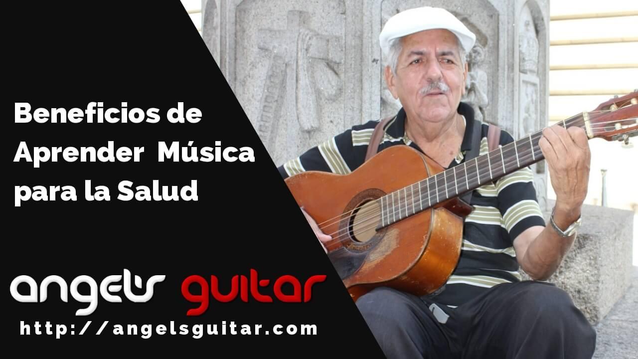 Beneficios de aprender guitarra en la salud