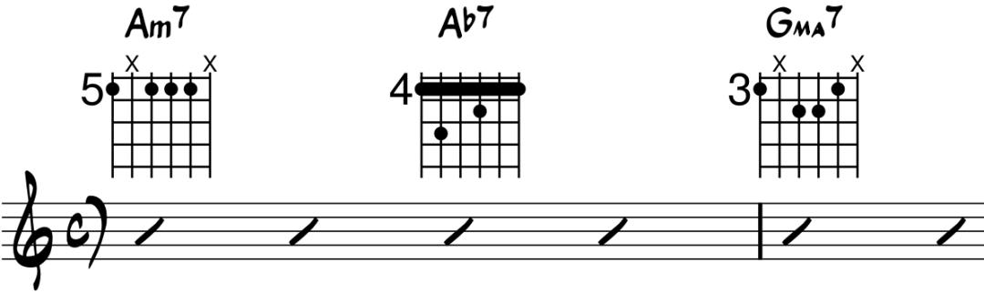 Progresión 2 5 1 guitarra - sustitución por 5ta disminuida
